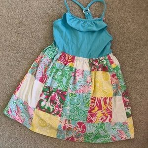 Lilly Pulitzer girls patchwork dress
